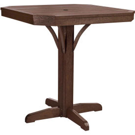 """St Tropez 35"""" Square Counter Table, Chocolate, 35""""L x 35""""W x 36""""H"""