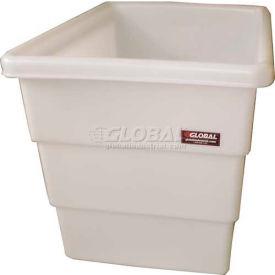 Dandux FDA Approved Plastic Bulk Container, Step Wall, 10 Bushel, Natural