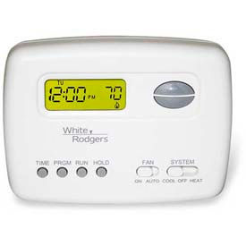 White-Rodgers™  Economy Single Stage (1H/1C) 5+2 Day Programmable Digital Thermostat 1F78-151
