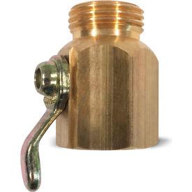 "Sani-Lav® N16 Non-Swivel Hose Adapter, Brass, 3/4"" FGHT x 3/4"" MGHT"