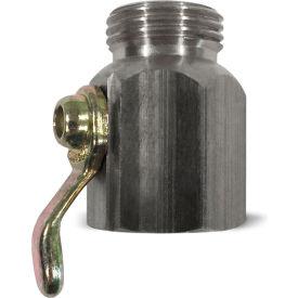 Sani-Lav® N16S Non-Swivel Hose Adapter, Stainless Steel, 3/4″ MGHT x 3/4″ FGHT