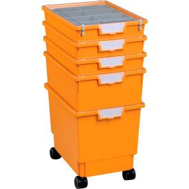 """Certwood Standard Width Rollatray Kit CE1965PY - 16-3/4""""L x 12-5/16""""W x 28-1/8""""H Yellow"""