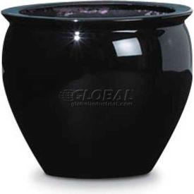 "OfficeScapesDirect 13"" Fiberglass Fish Bowl - Black"