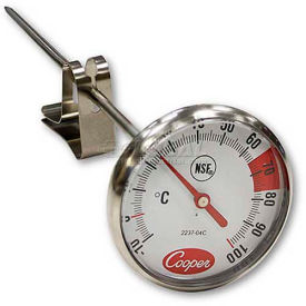 """Cooper-Atkins® Espresso Thermometer, 2237-04c-8, With Clip, 1¾"""" Dial, 7"""" Stem, Nsf - Min Qty 10"""
