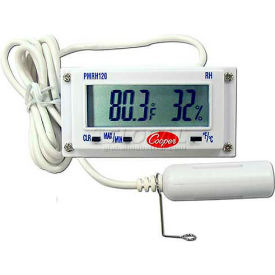Cooper-Atkins Mini Rectangular Temp & Humidity Panel Thermometer, Pmrh120-0-8 Min Count 3 by