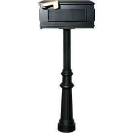 The Hanford Single Post With Fluted Base & Lewiston Mailbox