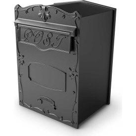 """QualArc Kingsbury Mailbox LSF-LS01 - Rear Access Wall/Column Mount 12""""W x 13""""D x 17""""H Black"""