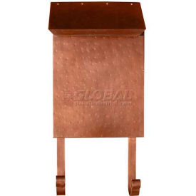 Provincial Series Vertical Wall Mount Mailbox in Hammered Antique Copper