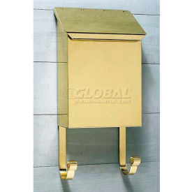 vertical wall mount mailbox. Provincial Series Vertical Wall Mount Mailbox In Smooth Polished Brass Vertical Wall Mount Mailbox