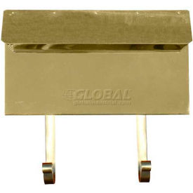 Provincial Series Horizontal Wall Mount Mailbox in Smooth Polished Brass