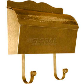 Provincial Series Roll Top Wall Mount Mailbox in Hammered Antique Brass