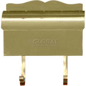 Provincial Series Roll Top Wall Mount Mailbox in Smooth Polished Brass