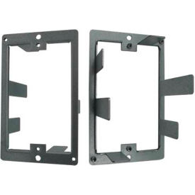 Vertical Cable, 022-DWB/S, Single Gang Dry Wall Bracket For US Type Face Plate - Steel