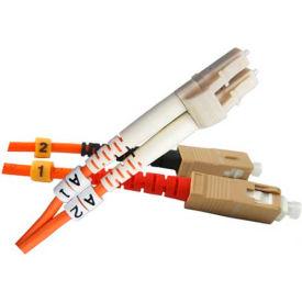 Vertical Cable 261-LCSC/10MM, Fiber Optic Patch Multimode 62.5 LC-SC PVC, 32.81 Ft