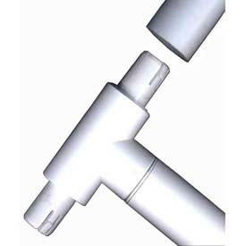 """Interna Snap Adaptor Female Fittings, 1""""Dia., Furniture Grade Pvc, White Package... by"""