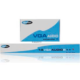 Comprehensive VGA Extender, Audio 1:2 Over CAT5 Cable, Up To 1000'