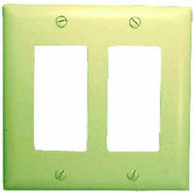 Wallplate Cover, Double Gang, White Decora