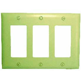 Wallplate Cover, Triple Gang, Ivory Decora