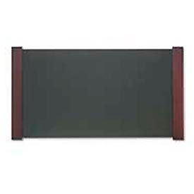 Desk Pad With Wood End Panels, Mahogany Finish, 21 X 38