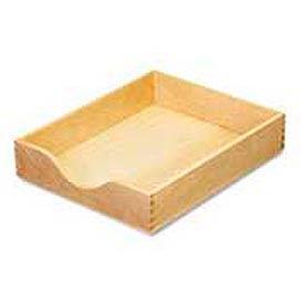 "Hardwood Desk Tray, Letter Size, 2-1/4""H, Oak Finish"