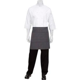 Chef Works AW036BUC0 Brooklyn Wide Half Bistro Apron W/Grommets, Blue,...