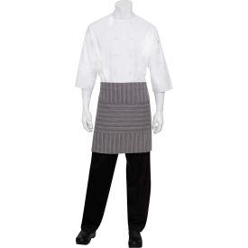 Chef Works AW036DGY0- Brooklyn Wide Half Bistro Apron W/Grommets, Dark Grey,...