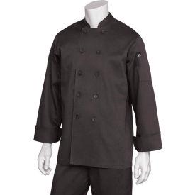 Chef Works Bastille Basic Chef Coat, Black, 2XL BASTBLK2XL by
