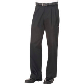 Chef Works Basic Black Chef Pants, Size 48 CEBP00048 by