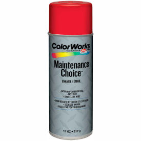 Krylon Industrial Colorworks Enamel Safety Red - CWBK01147 - Pkg Qty 6