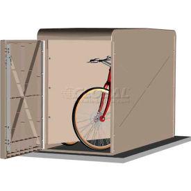 CycleSafe EcoPark® Economical Bike Locker Starter w/2 Doors, 2 Bicycles, Sandstone