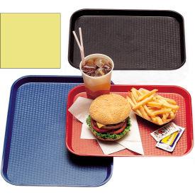 "Cambro 1216FF108 - Tray Fast Food 12"" x 16"",  Primrose Yellow - Pkg Qty 12"