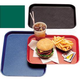 "Cambro 1216FF119 - Tray Fast Food 12"" x 16"",  Sherwood Green - Pkg Qty 12"