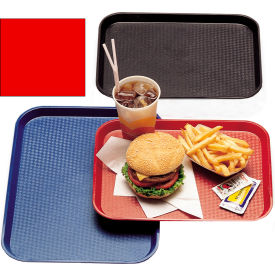 """Cambro 1216FF163 - Tray, Fast Food, Red, 12"""" x 16""""  - Pkg Qty 24"""