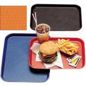"""Cambro 1216FF166 - Tray Fast Food 12"""" x 16"""",  Orange - Pkg Qty 12"""