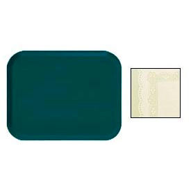 "Cambro 1418241 - Camtray 14"" x 18"" Rectangular,  Doily Antique Parchment - Pkg Qty 12"