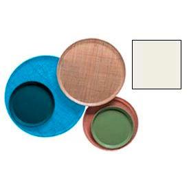 "Cambro 1550101 - Camtray 15.5"" Round Low,  Antique Parchment - Pkg Qty 12"
