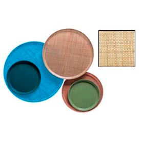 """Cambro 1550204 - Camtray 15.5"""" Round Low,  Rattan - Pkg Qty 12"""