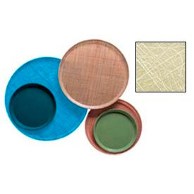 """Cambro 1550214 - Camtray 15.5"""" Round Low,  Abstract Tan - Pkg Qty 12"""