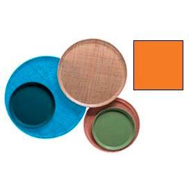 """Cambro 1550222 - Camtray 15.5"""" Round Low,  Orange Pizazz - Pkg Qty 12"""