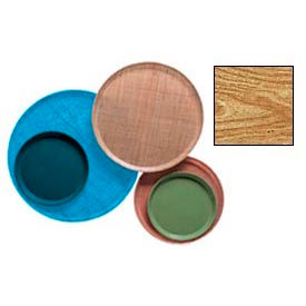 """Cambro 1550307 - Camtray 15.5"""" Round Low,  Light Elm - Pkg Qty 12"""