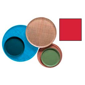 """Cambro 1550510 - Camtray 15.5"""" Round Low,  Signal Red - Pkg Qty 12"""