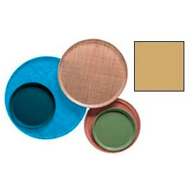 """Cambro 1550514 - Camtray 15.5"""" Round Low,  Earthen Gold - Pkg Qty 12"""
