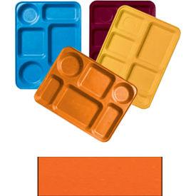 """Cambro 1222D222 - Tray Dietary 12"""" x 22"""", Orange Pizazz - Pkg Qty 12"""