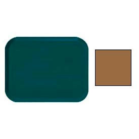 """Cambro 16225508 - Camtray 16"""" x 22"""".5 Rectangle,  Suede Brown - Pkg Qty 12"""