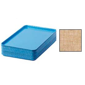 """Cambro 1826329 - Camtray 18"""" x 26"""" Rectangular,  Linen Toffee - Pkg Qty 6"""