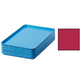 "Cambro 1826505 - Camtray 18"" x 26"" Rectangular,  Cherry Red - Pkg Qty 6"
