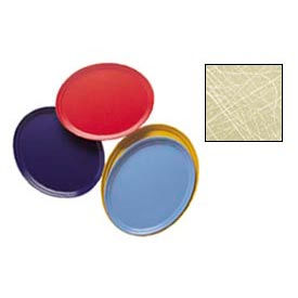 """Cambro 2500214 - Camtray 19"""" x 24"""" Oval,  Abstract Tan - Pkg Qty 6"""