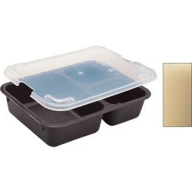 Cambro 853FCP161 - Tray 3 Compartment, Tan - Pkg Qty 24