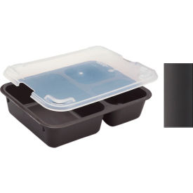Cambro 853FCP167 - Tray 3 Compartment, Brown - Pkg Qty 24