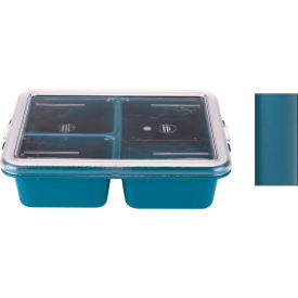 Cambro 9113CP414 - Tray 3 Compartment Deep- Teal - Pkg Qty 24